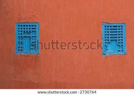 Detail of a wall in morocco. - stock photo