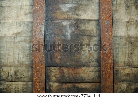 detail of a whisky barrel - stock photo