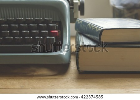detail of a writer's desk