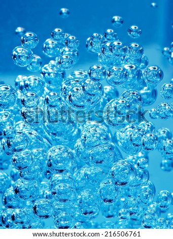 Detail of abstract blue bubble, can be used for background - stock photo