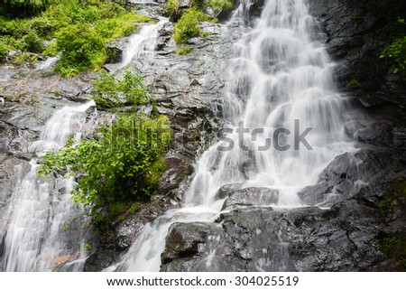 Detail of Amicalola Falls, in Georgia's State Park. - stock photo