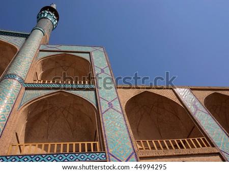 Detail of Amir Chakhmaq Complex in Yazd. Iran. - stock photo