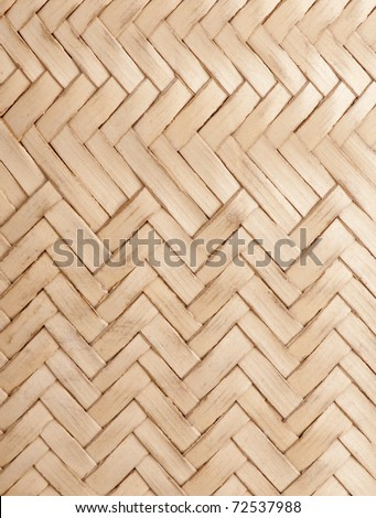 Detail of an Africal  woven bag made to extract coconut juice. It is made from coconut palm leaves. - stock photo