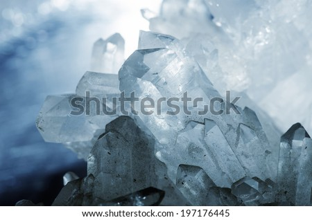 Detail of an big glittering rock crystal. - stock photo