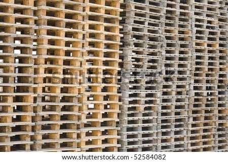 Detail of an industrial manufacturer's warehouse - stock photo