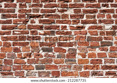 Detail of an old Brickwork - stock photo