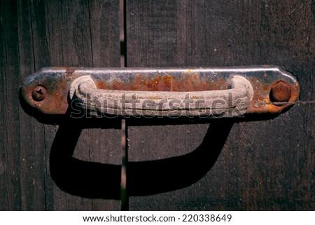 Detail of an old door - stock photo