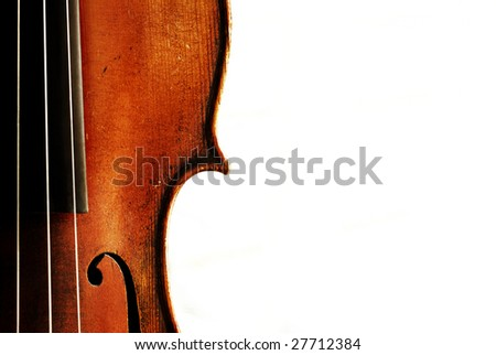 Detail of an old violin - stock photo