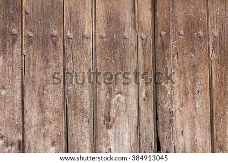 Detail of an old wooden fence - stock photo