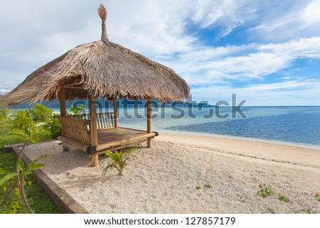 detail of an tropical island near Bali - stock photo