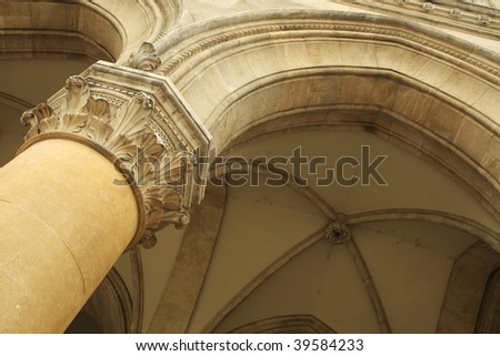 detail of antic archway - stock photo