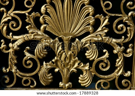 detail of antique  railing pattern