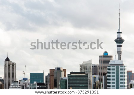 Detail of Auckland skyline, New Zealand