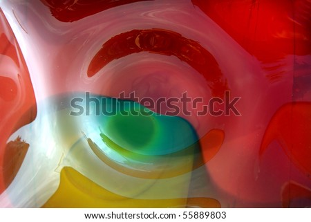 Detail of beautiful hand-blown glass bowl - stock photo