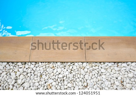 detail of beautiful swimming pool edge