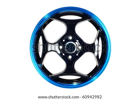 Detail of beauty design of Sport Car Wheel - stock photo