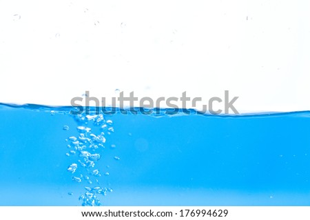 detail of blue water surface - stock photo