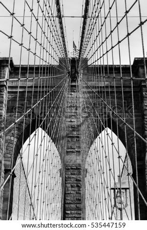 Detail Of Brooklyn Bridge / New York