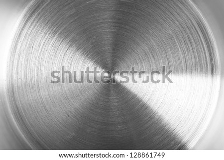 detail of brushed metal texture - stock photo