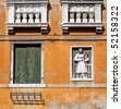 Detail of building in Venice - stock photo