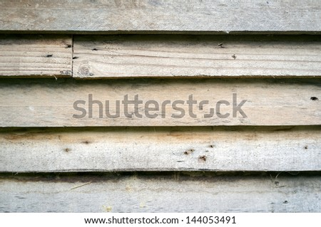 Detail of building with Clapboard Siding - stock photo