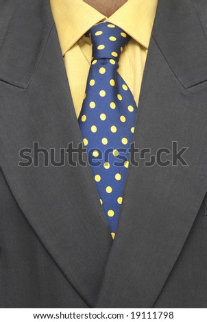 detail of businessman suite - stock photo
