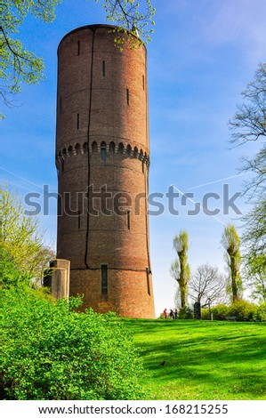 Detail of city walls of Bruges, Unesco world heritage,BRUGES, BELGIUM - stock photo