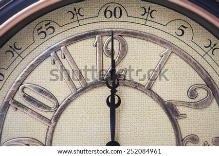 detail of classic clock - stock photo