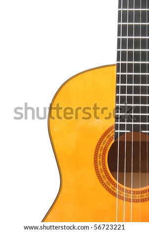 Detail of classic (spanish) guitar - stock photo