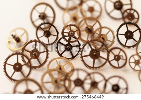 Detail of clock parts for restoration
