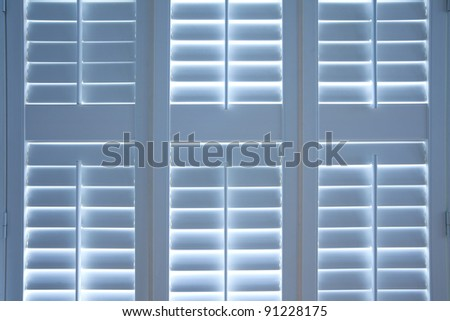 Detail of closed blinds - stock photo