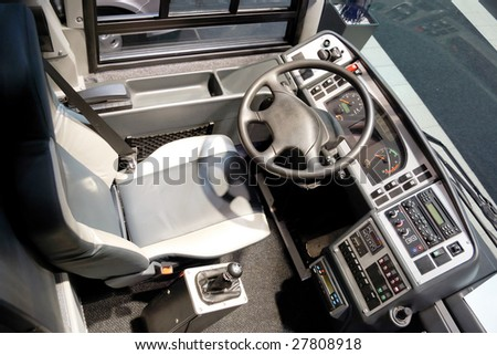 Detail of coach bus cabin - stock photo