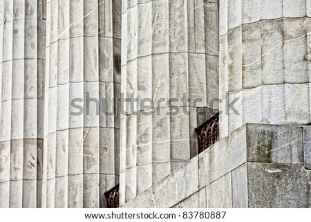 detail of courthouse columns, good for background - stock photo