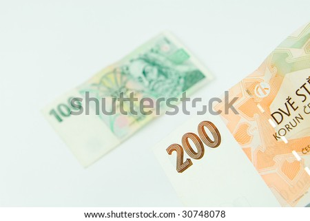 Detail of czech money - the czech currency