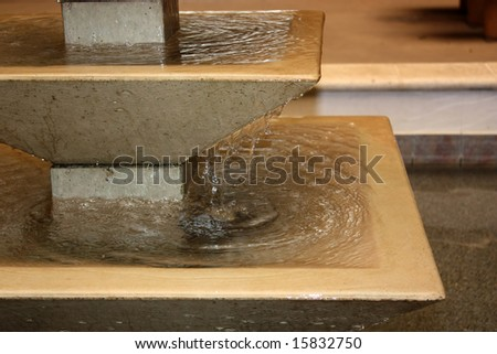 Detail of decorative cascade fountain - stock photo