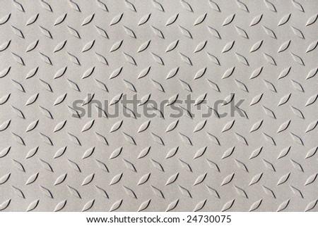 Detail of diamond plate steel - stock photo