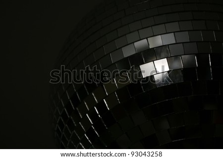 Detail of disco ball from the dark side - stock photo