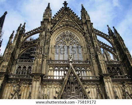 detail of dome in Cologne - stock photo