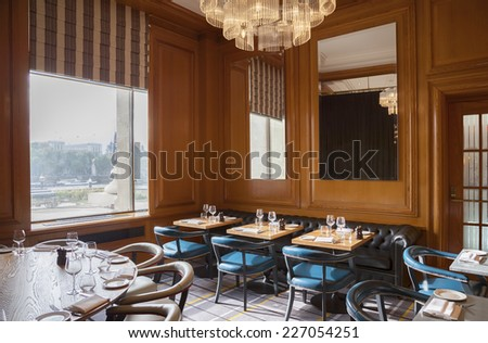 detail of English interior of restaurant  - stock photo