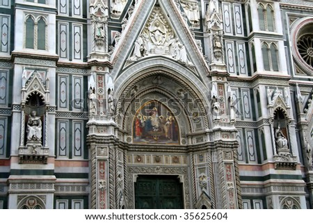 Detail of Florence cathedral - stock photo