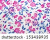 detail of flowers material  - stock photo