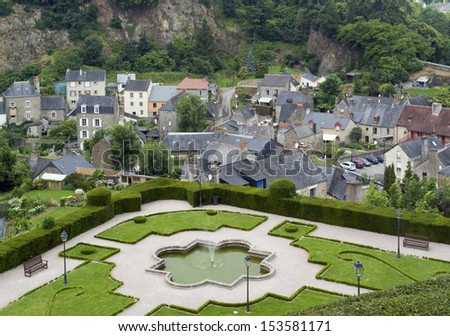 detail of Fougeres, a historic city in Brittany, France