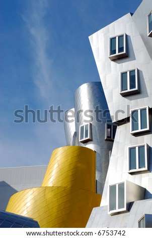 Detail of Frank O Gehry Stata Center building at the Massachusetts Institute of Technology in Cambridge, Massachusetts - stock photo