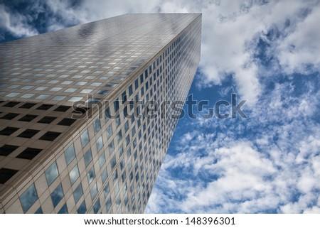 Detail of futuristic skyscraper in Denver in USA - stock photo