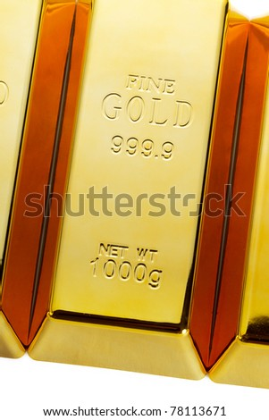 Detail of gold bars - stock photo