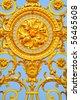 Detail of golden door of Versailles Palace. France - stock photo