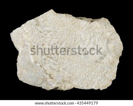 Detail of graphic pegmatite rock intergrowths of quartz and feldspar from Vezna, Czech Republic - stock photo