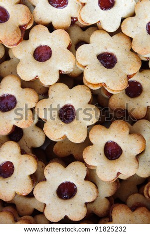 Detail of group of gluten free Christmas confectionery with marmalade - stock photo