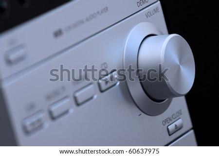 detail of hi-fi control panel - stock photo