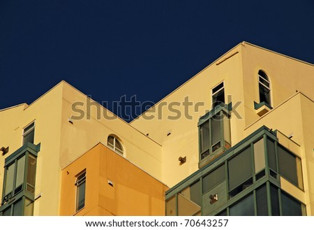 Detail of high rise building in Buranby - stock photo
